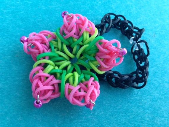 items similar to hibiscus flower rainbow loom teardrop