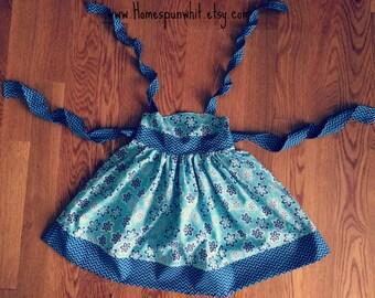 Hadley's Halter Dress, Girls Halter Dress, Blue Chevron Halter Dress, Infant Halter Dress, 6-12 Months, 12-18 Months, 24 Month/2T, 3T