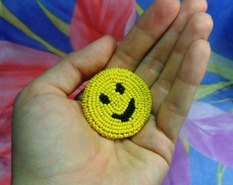 "Brooch ""Smile"" in the art beadwork"