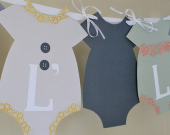 Baby girl Shower Banner, Baby Shower Banner, Onesie Baby Shower Banner, Baby Girl Nursery Banner, Gender Reveal Banner