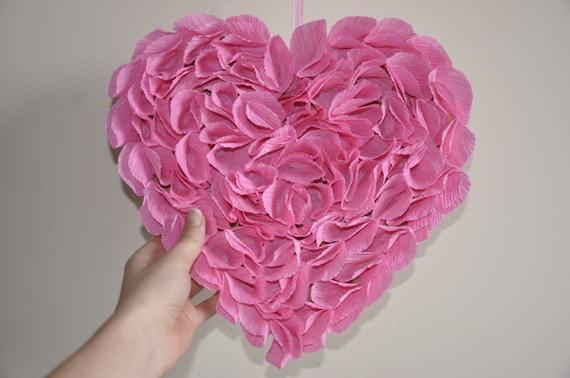 Doux le jour de Valentines de couronne rose,Jour de papier Guirlande de Valentine,simple couronne, soit valentine de mine,guirlande rosa