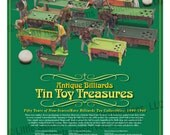 Antique Billiards Tin Toy Treasures, 24 x 30 Art Print