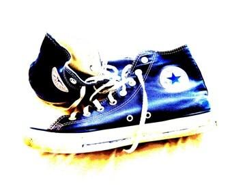 "My First Converse, New York City, USA. 5"" x 7"""
