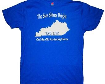 Kentucky home shirt etsy for Custom t shirts lexington ky