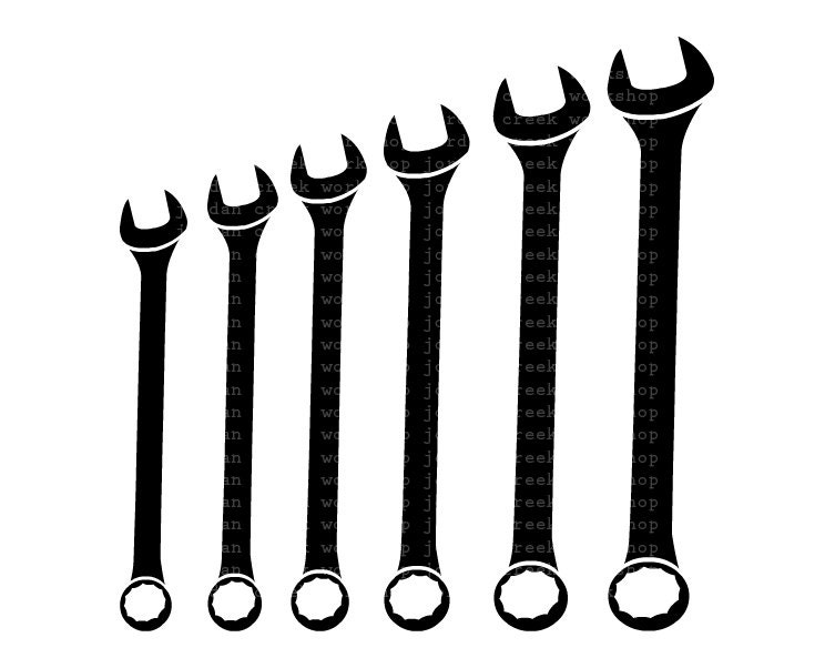 Combination Wrench Clipart