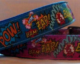 comic strip/pop art dog collar