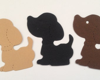 25 sizzix Dog Die Cuts for children's cards/toppers cardmaking scrapbooking paper craft project