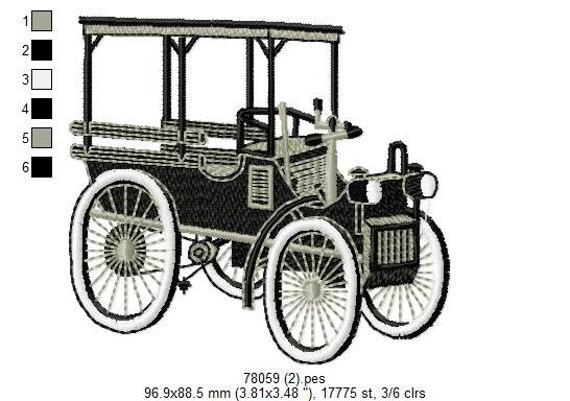 Classic Antique Cars Boys Toys Embroidery Designs - PES HUS JEF