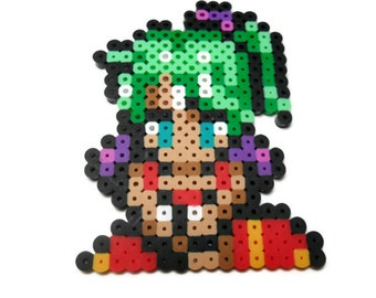 Final Fantasy VI Terra bead sprite, final fantasy 6 character sprite, video game decor, snes, super nintendo, video game perler, gamer gift
