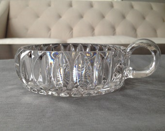 Vintage Crystal Dish with Handle