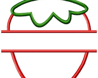 Split Strawberry Applique Design Download 4x4, 5x7, and 6x10 hoop sizes