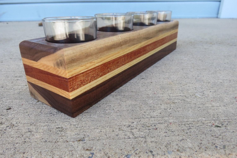 wooden votive candle holder