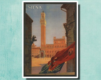 SIENA Italy - Vintage Italian Travel Poster 1925 - SG2388