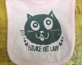 Baby Bib // Cat Lady