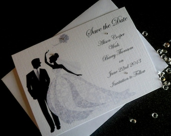 Handmade Personalised A6 Save The Date Cards Various Pack Sizes