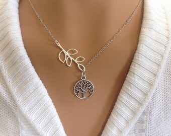 Lariat Style Tree of Life Necklace