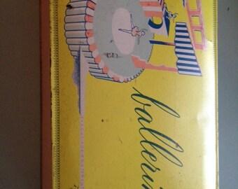 VINTAGE Antique 1949 Barton's Ballerina Tin Chocolate Box