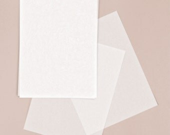 Invitation Tissue Paper, comes in a set of 25, 5 x 7 (traditional size) invitation paper. Message me for different sizes and color options.