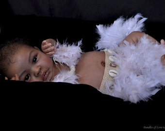 Reborn BIRACIAL Vinyl Doll Kit Baby SHYANN Aleina Peterson NOT Finished 1426