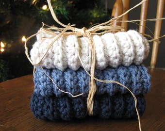 Crocheted Dishcloths (Set of 3)