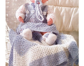Baby doll crochet pattern with accesories