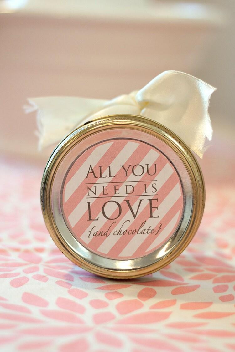printable valentine u0026 39 s day mason jar label instant