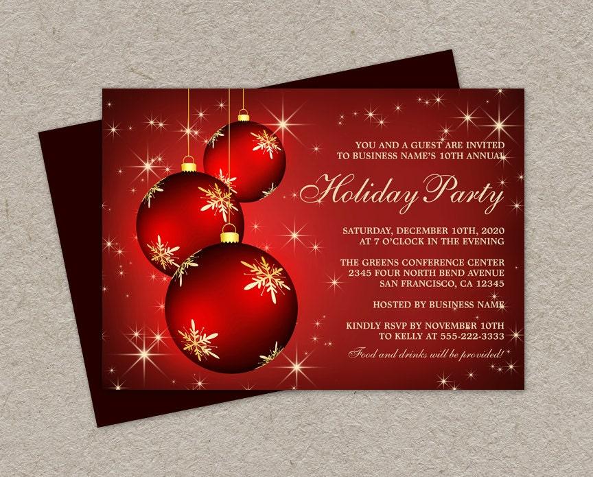 diy printable corporate holiday party invitations elegant