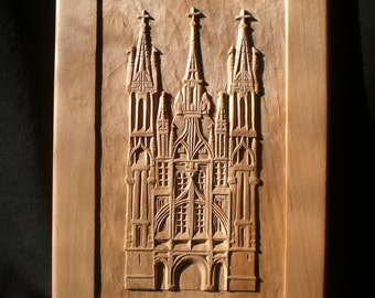 St. Anne's Church carving architecture gothic, Wooden Wall Art Decor, Personalized Gift, One of a Kind, wall hanging, Hand made in Lithuania