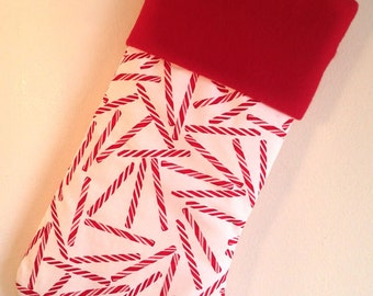 Peppermint Stick Christmas Stocking