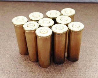 Empty Bullet Casing, 38 Special, Expended Brass, Fired Bullets, Set of 10, Steampunk Jewelry Supply , Military Supply