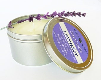 Lavender Candles - Soy Candle - Candle gifts - Essential oils - Holiday gifts - Gifts for her - Lavender soy candles - Made in Michigan