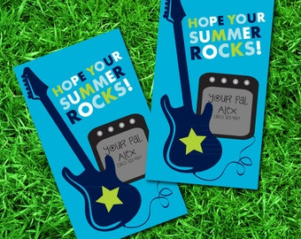 Hope your Summer Rocks Tags-End of School Favor Tags- End of School Gift Tags- Hope Your Summer Rocks Gift Tags- Hope Your Summer Rocks Tag