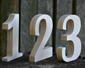 SALE! 1-17 4 inches Wooden Numbers, Free Standing Wedding Table Numbers for Decor, Stand Alone Cafe or Restaurant Table Numbers, Photo Props