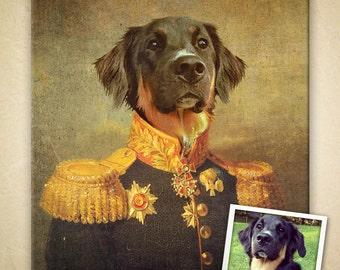 Custom Vintage Regal Pet Portrait - Digital File Only