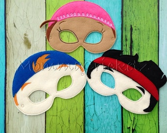 Jake and The Pirates Dress up masks party favors