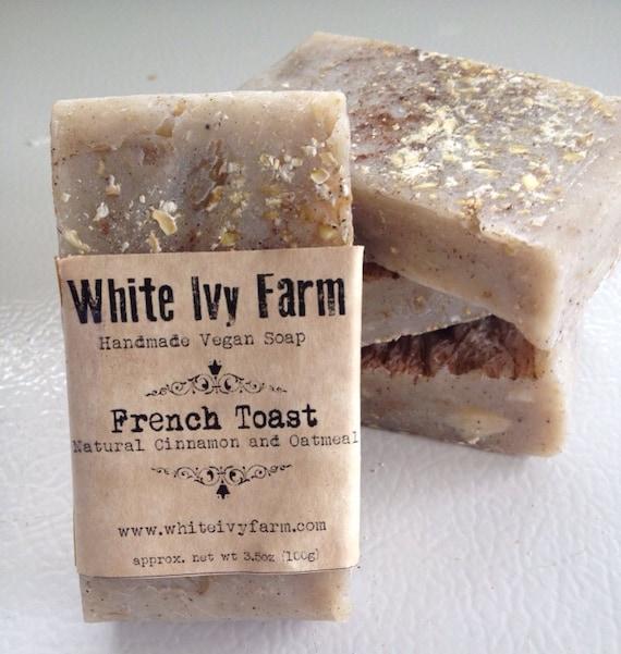 , Natural Vegan Cinnamon & Oatmeal SoapBridal Shower Gift, Wedding ...