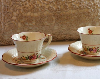 Vintage demitasse cups. A pair by Coalport