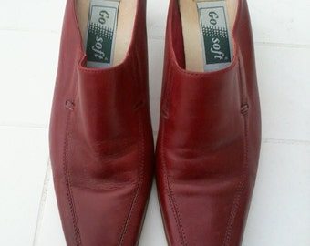 leather clogs shoes size 38 red color