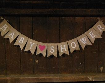 Burlap Baby Shower Banner