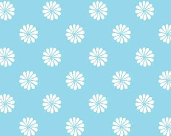 Fat Quarter Monaco - Small Daisy, Teal - Red Rooster (445424752TEA1) Fabric
