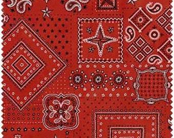 American Beauty - Red Bandanna- Henry Glass (9607-88) Fabric yardage