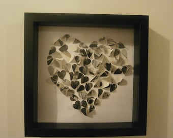 3D heart of hearts picture- keepsake for Wedding gift, Valentines gift or Anniversary present