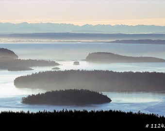 Landscape outdoor photography - San Juan Island overlook, Washington state, Home and office wall decor photograph