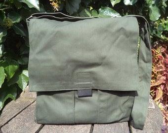 Olive green canvas messenger bag,bike bag