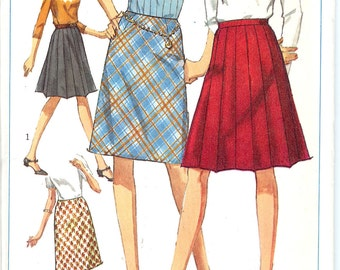 Simplicity 6646  1960's Misses' Set of Skirts   ID 139