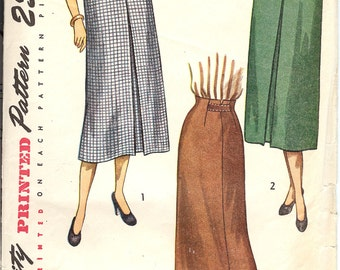 Simplicity 2383 Sewing Pattern  1930's Misses' Skirt  ID546