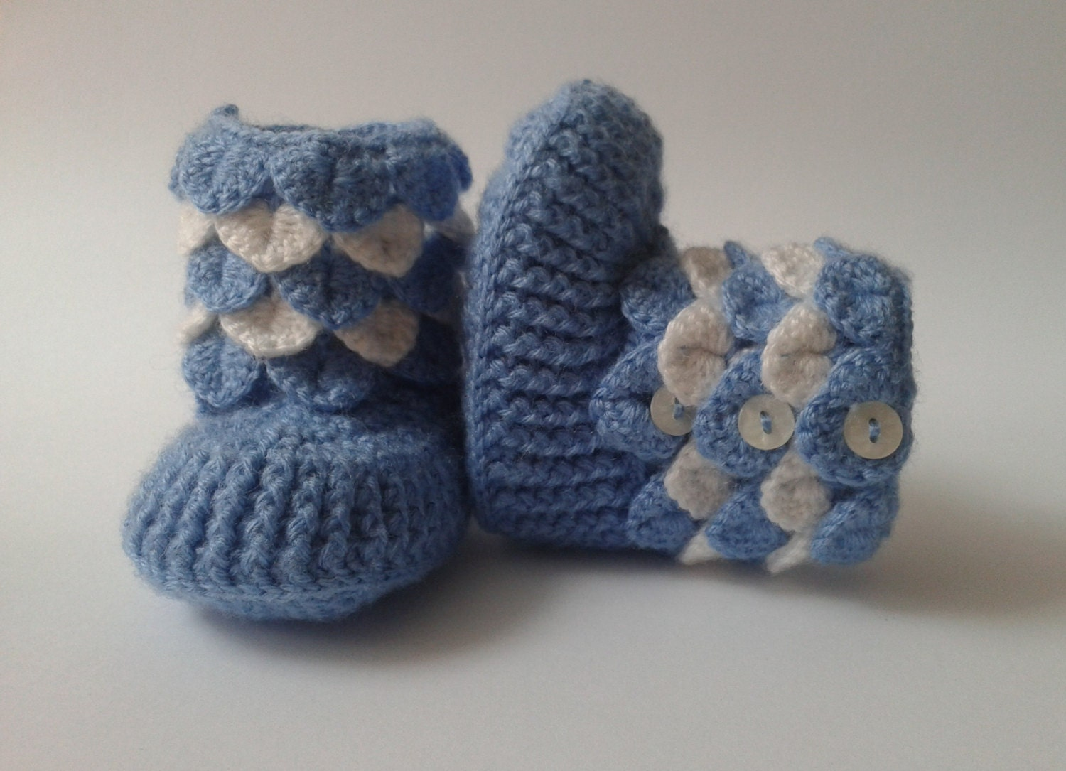 Crochet Pattern For Crocodile Stitch Baby Booties : Crocodile Stitch Baby Booties/ Crochet Baby boots Crocodile