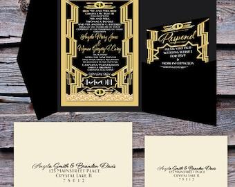 gatsby invitation | etsy, Wedding invitations