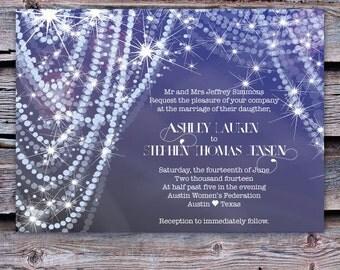 Wedding Invitation - diamonds and pearls