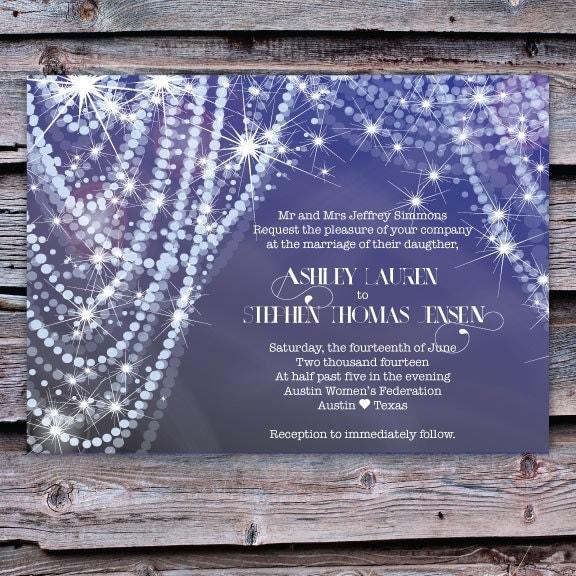 Wedding invitation diamonds and pearls for Pearl wedding invitations
